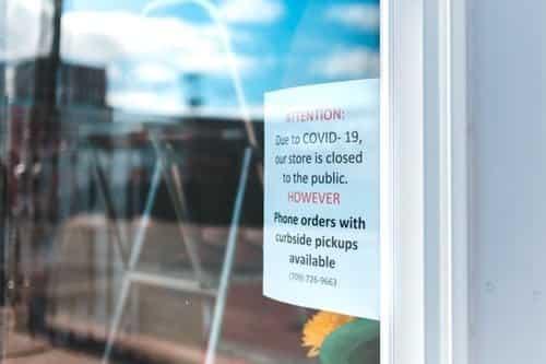 Shop closed due to corona