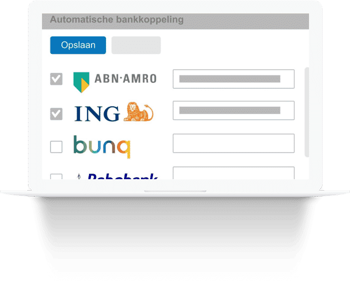 Automatic bank connection with your administration